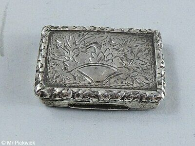 Antique John Bettridge 1830 Vinaigrette Birmingham Silver