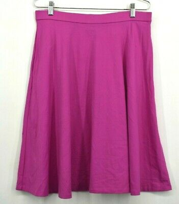Adrienne Vittadini Womens Large Hot Pink Knee Length Stretch Career Skirt Casual