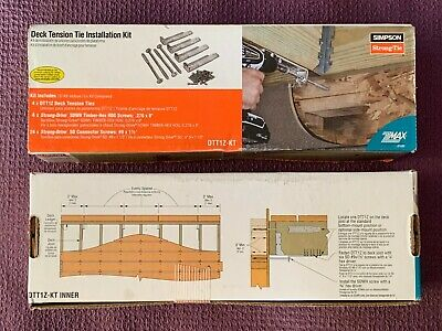 Simpson Strong-Tie Deck Tension Tie Installation Kit (2 sets) DTT1Z-KT - NEW