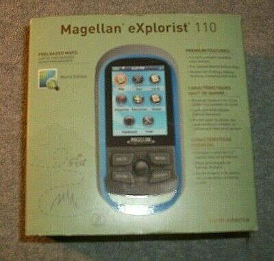 Magellan eXplorist 110 North America - Blue/Grey w/ USB Cable CX0110SGXNA V1.59