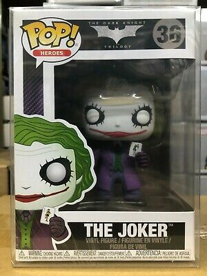 Funko Pop Heroes: The Dark Knight Trilogy - The Joker Figure #3372 w/ Protector