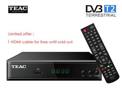 TEAC HDB860 FHD DVB-T HDMI H.264 USB PVR Media Play Set Top Box Remote Control