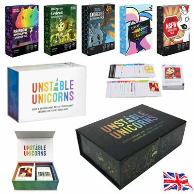 Unstable Unicorns Core Card Base Game With All Expansion Pack Sealed Gift New