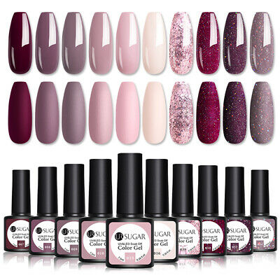 10 Bottles/set UR SUGAR UV Gel Nail Polish Soak Off Gel Varnish Lot UV LED 7.5ml