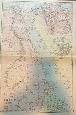 The Original Map For The English Invasion Of Egypt 1882. Battle War Site. Item 3
