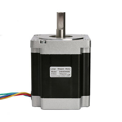 1PC Nema 34 86BYGH stepper motor 965oz.in 7.7N.M 5.6A 113mm 4wires 34HS9456 CNC