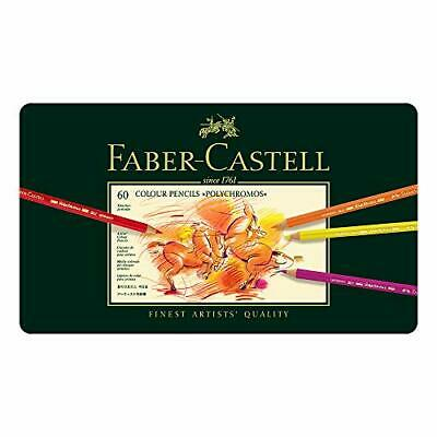 Faber-Castel 110060 Polychromos Colored Pencil Set In Metal Tin 60 Pieces