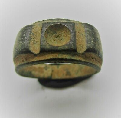 Detector Finds Very Interesting Ancient Roman Bronze Ring Good Condition