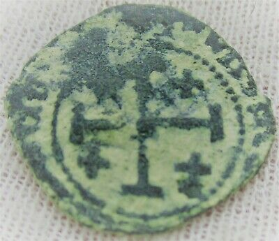 Ancient Byzantine Bronze Crusaders Coin