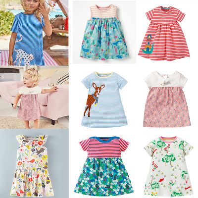 Toddler Kids Bbay Girls Summer Striped Dress Casual Party Sundress Clothes 0-6Y