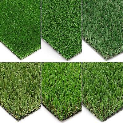 Artificial Grass Astro Garden Turf Fake Lawn Realistic Natural Green New Cheap