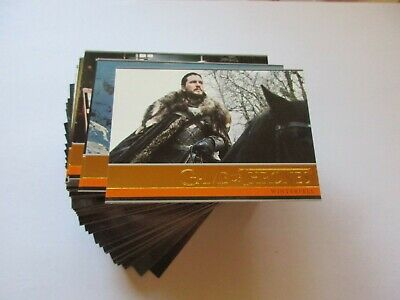 2020 Game of Thrones Season 8 Complete GOLD FOIL Parallel Base Set Series Eight