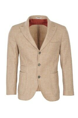 Brunello Cucinelli Blazer Men's 52 SALE !! Beige Slim Fit Mottled Alpaca