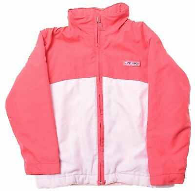 REEBOK Girls Windbreaker Jacket 5-6 Years Pink Polyester  BR02