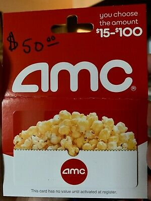 $50 AMC Theatres Gift Card