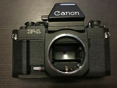 Canon New F-1 nF-1 35mm SLR Film Camera Body Only, Black - Professional F1 nF1