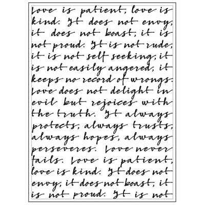 LOVE IS Quote Background 4.25 x 5.75 Darice Embossing Folder 30008375 fs