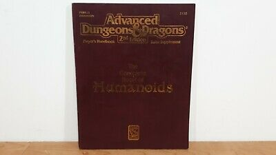 The Complete Book of HUMANOIDS Advanced Dungeons & Dragons Handbook D&D AD&D 2nd
