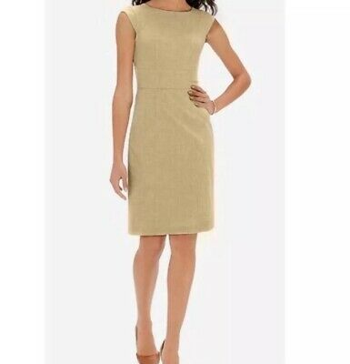 The Limited Collection Sheath Dress Solid Tan Beige Womens Size 4