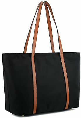 YALUXE Tote for Women Leather Nylon Shoulder Bag Women's Oxford Large Capacity W