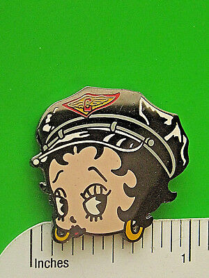 Biker BETTY face - hat pin , lapel pin , tie tac , hatpin GIFT BOXED