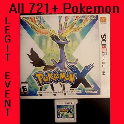 Pokemon X - Loaded With All 721 + 120+ Legit Event Pokemon Unlocked COMPLETE 3DS