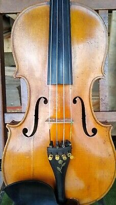 """Old Violin stamped """"BRETON"""" most likely made in France"""