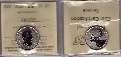 "2020 Canada 25 cent ""Caribou"" ICCS SP-67 ""From specimen set, Last One in Stock"""