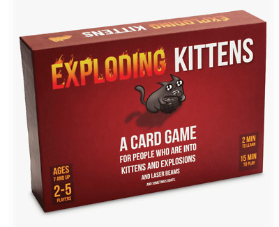 Red EXPLODING KITTENS Card Game Original Edition GENUINE HOLOGRAMMED New