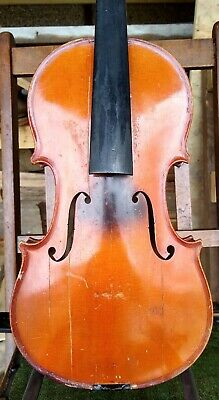 """Old Violin most likely French labeled """"Aubry DUGARDE Paris"""" 357mm"""