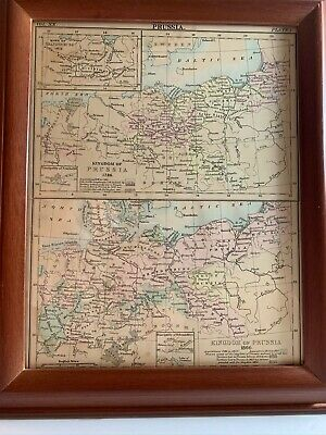 Map Of Prussia Framed 1786 & 1866