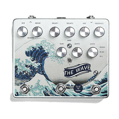 Foxpedal The Wave Dual Delay / Reverb / Modulation  - FREE 2 DAY SHIP