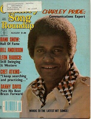 Country Song Roundup Magazine August 1980 Charley Pride Hank Snow Chet Atkins
