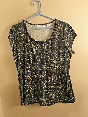 Liz Claiborne womens petite XL short sleeve top