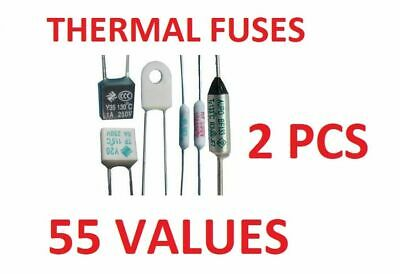 0Thermal Fuses 250V CUTOFF TEMPERATURE 65 to 300 Electronic Components