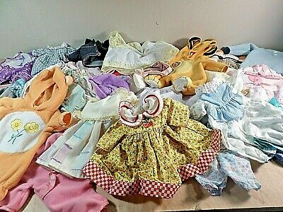 Huge Lot of Doll Clothes~All Sizes~Vintage~Current~Dresses~Jumpers~Tops~More!