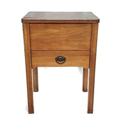 Vintage Sewing Machine Wooden Table/Cabinet - Art Deco Style