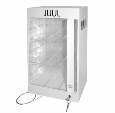 NEW :  JUULS 9 Retail Locking Display Case With Keys ~ 9 Slot Holds 90 Units