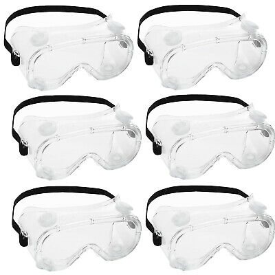6pc Anti Flog Goggles Safety Lab Glasses Anti Protective Chemical Goggles SPLASH