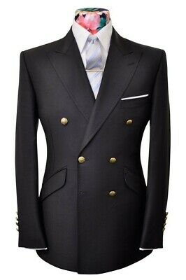 Beautiful Saville Row/ suitsupply like Mens Double Breasted Suit 40R