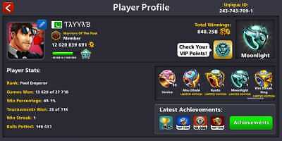 8 Ball Pool | 500 Million | Coins Or New Account | Bonus Coins | Fast Delivery