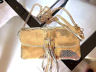 Handbag Pouch Evening Marriage 0R with Chain Gold