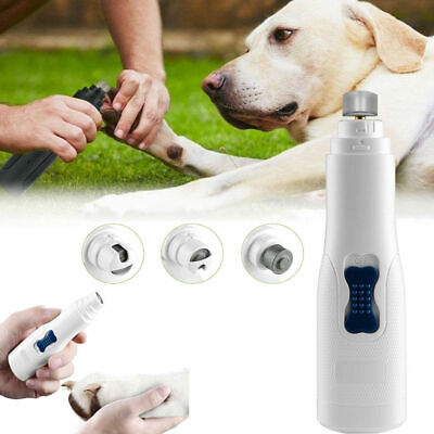Professional Pet Dog Cat Nail Trimmer Grooming Tool Paw Grinder Electric Clipper
