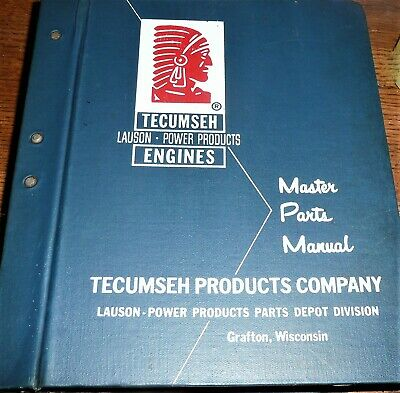 Tecumseh - Lauson- Power Products Master Parts Manual Vintage 1960's