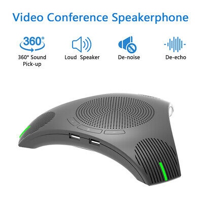 USB Inferface 2W Conferencing Microphone Speakerphone Plug and Play High Power