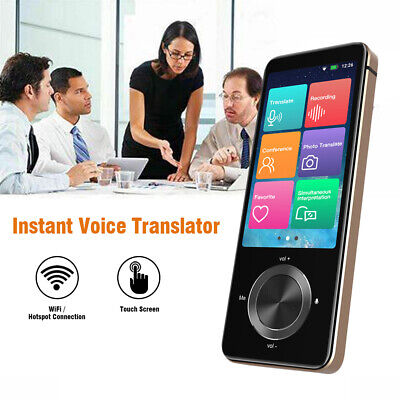 "3"" Touch Screen Smart Voice Translator 43 Photo Transaltor for Business Meeting"