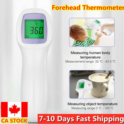 IR Infrared Digital Forehead Fever Thermometer Non-Contact Baby Adult Body Fast