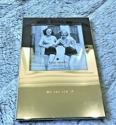 """Kate Spade New York Picture Perfect """"We are Family"""" Lenox Photo Frame with Tags"""