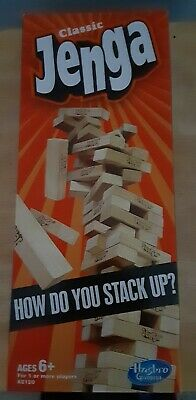 Jenga Classic Stack-up Game by Hasbro Ages 6+