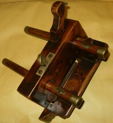 """Vintage Wooden Plough Plane, With Hildick 5/32"""" Iron - Unknown Maker"""
